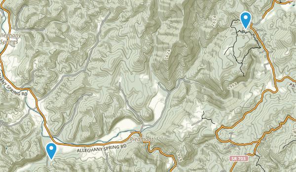 Shawsville, Virginia Map