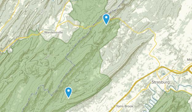 Star Tannery, Virginia Map