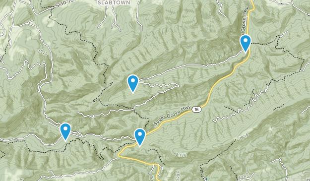 Sugar Grove, Virginia Map