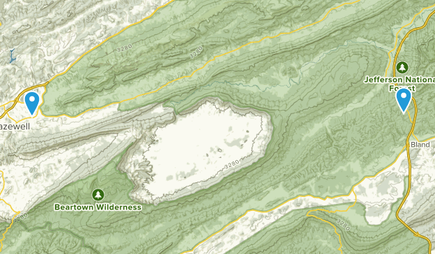 Tazewell, Virginia Map