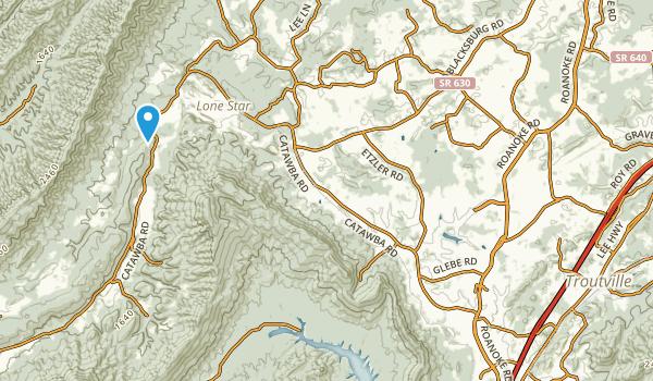 Troutville, Virginia Map