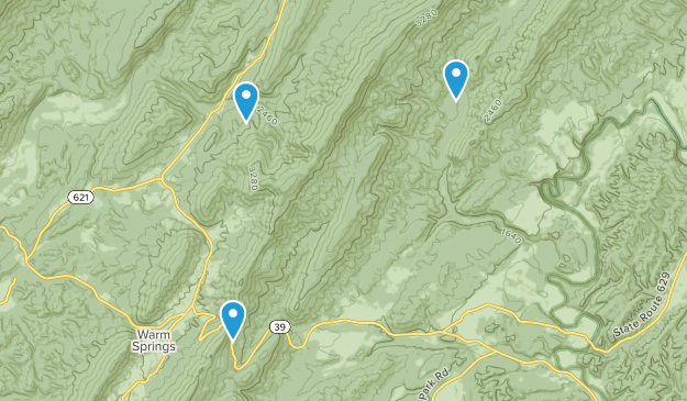 Warm Springs, Virginia Map
