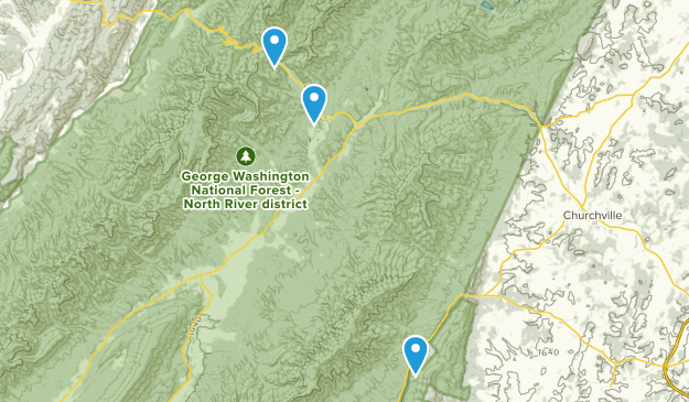 West Augusta, Virginia Map