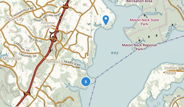 Woodbridge, Virginia Map