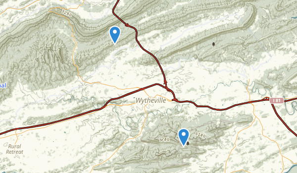 Wytheville, Virginia Map