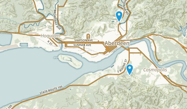 Aberdeen, Washington Map