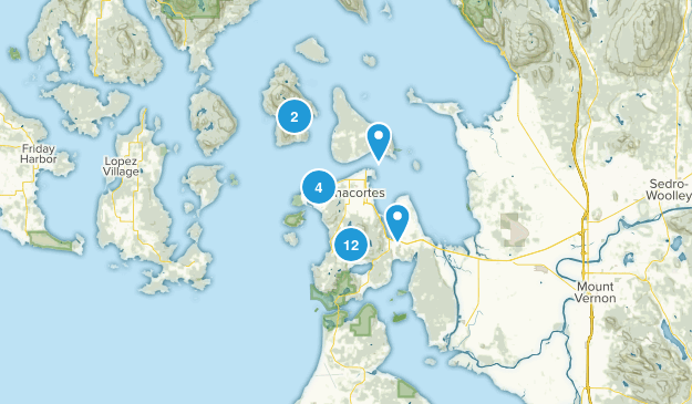 Anacortes, Washington Map