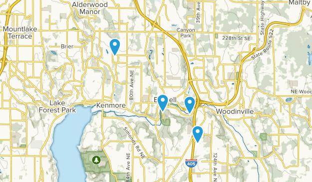 Bothell, Washington Map