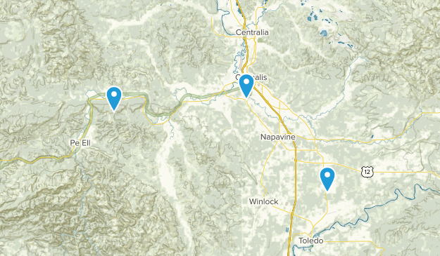 Chehalis, Washington Map