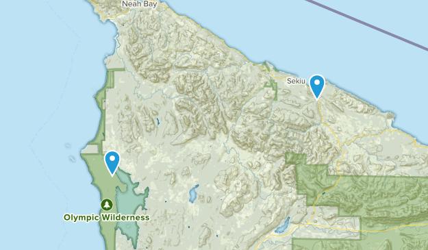 Clallam Bay, Washington Map