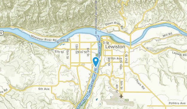 Clarkston, Washington Map