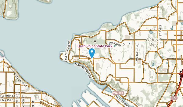 Dash Point, Washington Map