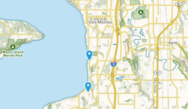 Des Moines, Washington Map