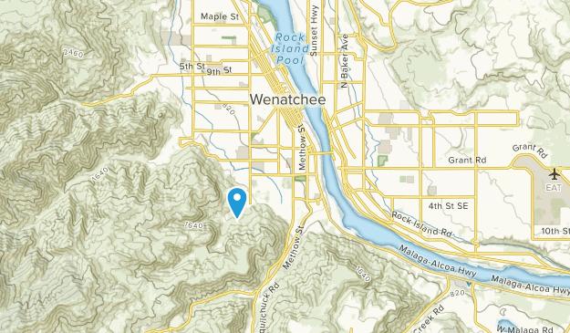 East Wenatchee, Washington Map
