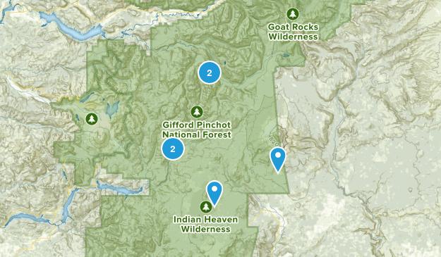 Gifford Pinchot, Washington Map