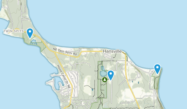 Hansville, Washington Map
