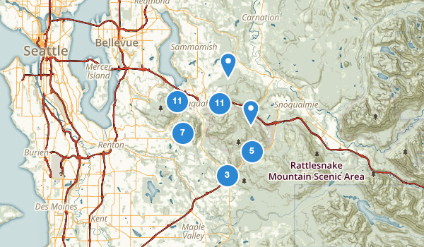 trail locations for Issaquah, Washington