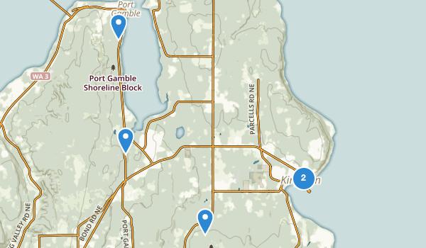 trail locations for Kingston, Washington