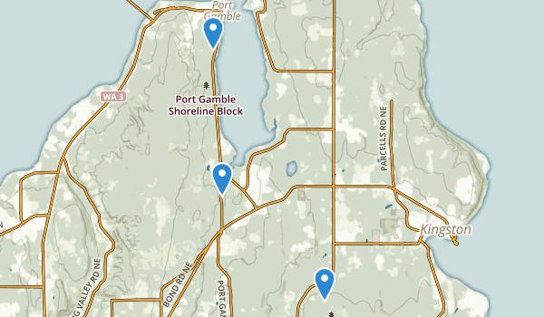 Kingston, Washington Map