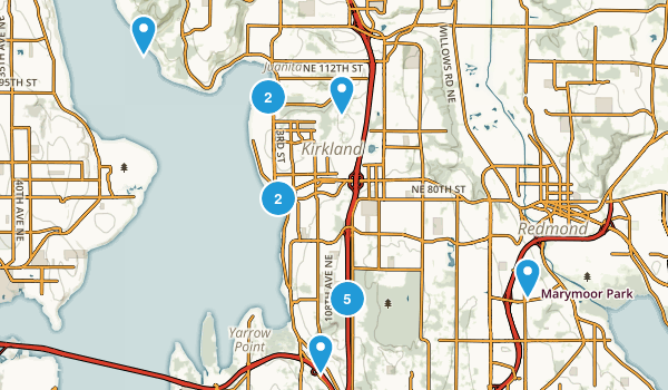 Kirkland, Washington Map
