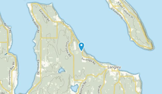 Langley, Washington Map