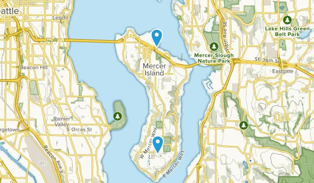 Mercer Island, Washington Map
