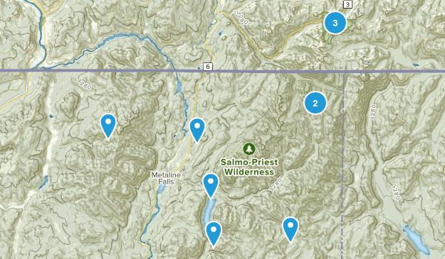 Metaline Falls, Washington Map