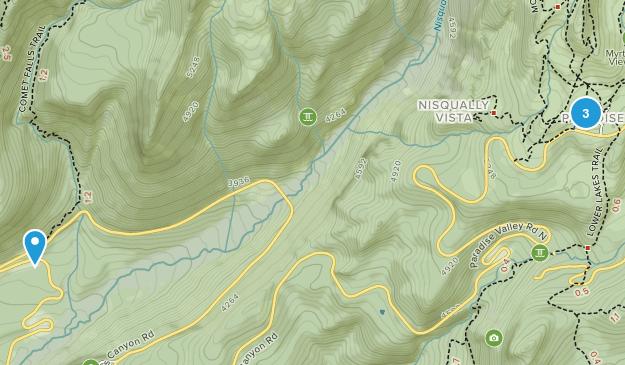 Mount Rainier National Park, Washington Map