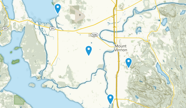 Mt Vernon, Washington Map