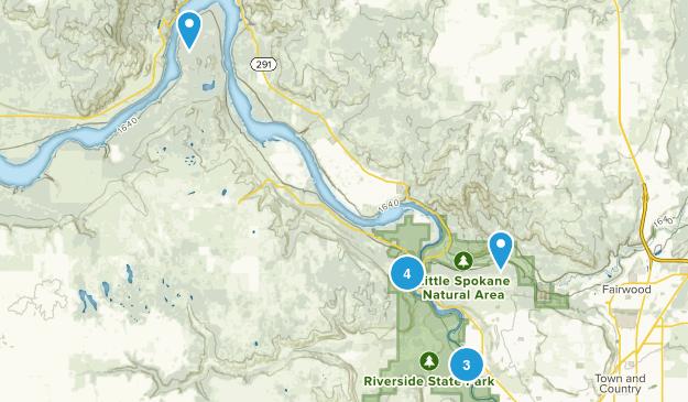 Nine Mile Falls, Washington Map