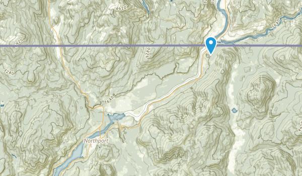 Northport, Washington Map