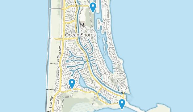 Ocean Shores, Washington Map