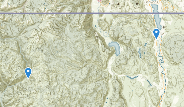 Oroville, Washington Map