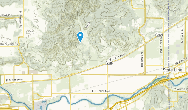 Otis Orchards, Washington Map
