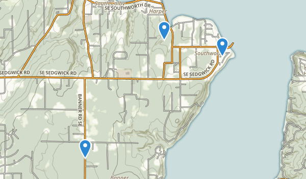 trail locations for Port Orchard, Washington