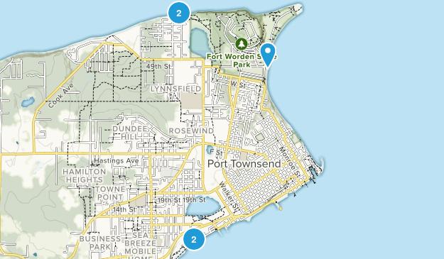 Port Townsend, Washington Map