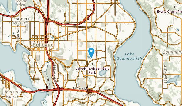 Robinswood, Washington Map