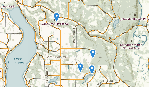 Sammamish, Washington Map