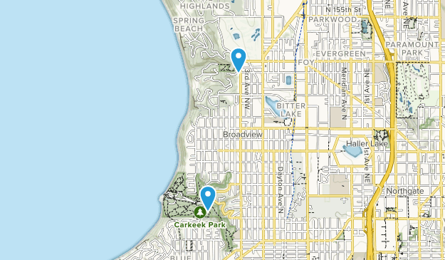 Shoreline, Washington Map