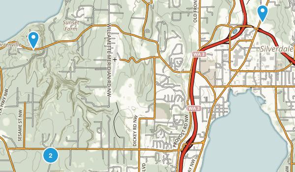 Silverdale, Washington Map