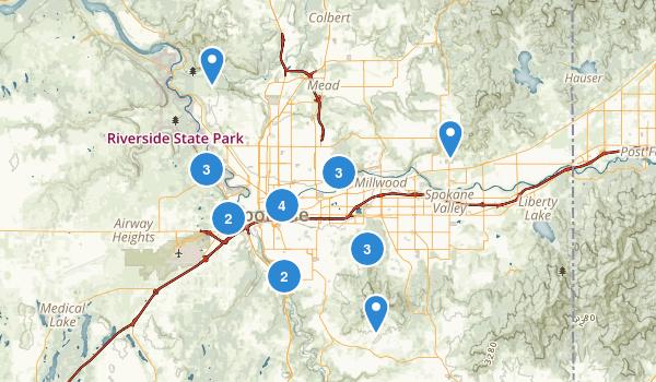 Spokane, Washington Map