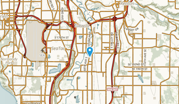 Tukwila, Washington Map