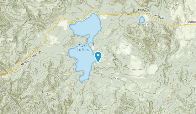 Twin Lakes, Washington Map