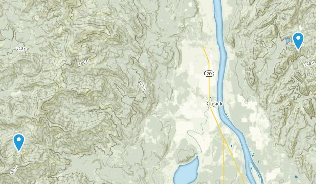 Usk, Washington Map