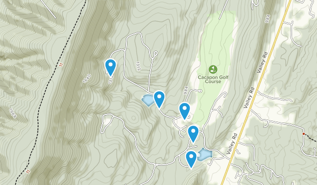 Berkeley Springs, West Virginia Map