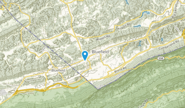 Bluefield, West Virginia Map