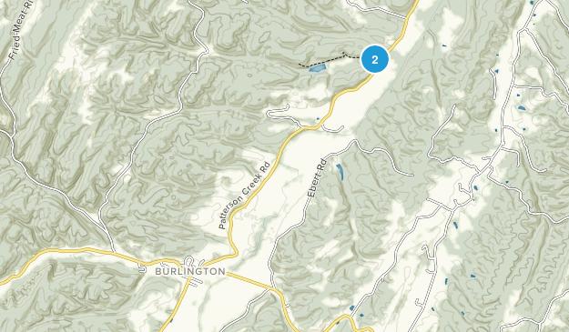 Burlington, West Virginia Map