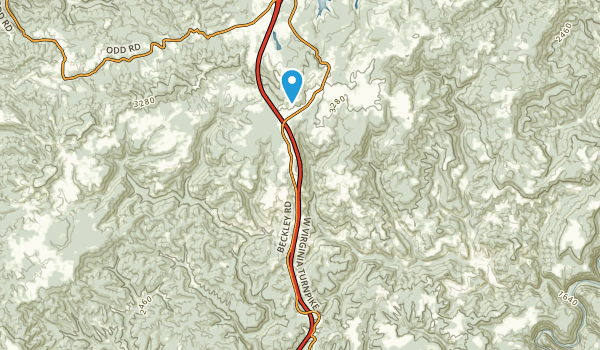 Flat Top, West Virginia Map
