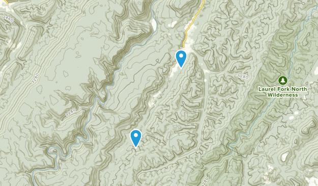 Glady, West Virginia Map