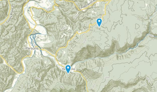 Hambleton, West Virginia Map